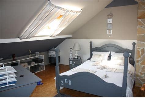 chambre garcon id馥s d馗o chambre de gar 231 on gris bleu id 233 e rideau velux blue is