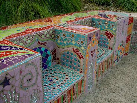 mosaic garden bench mosaic bench outdoor benches pinterest
