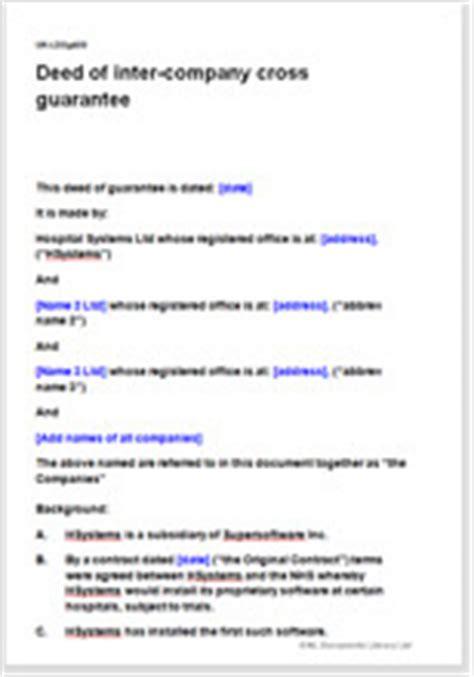 Intercompany Cross Guarantee Agreement Template Cross Corporate Guarantee Template