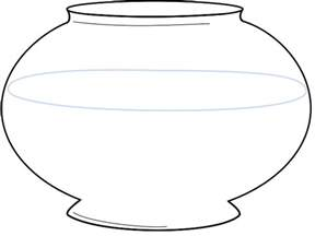 Fishbowl Template by Coloring Page Fish Bowl Diigo Groups