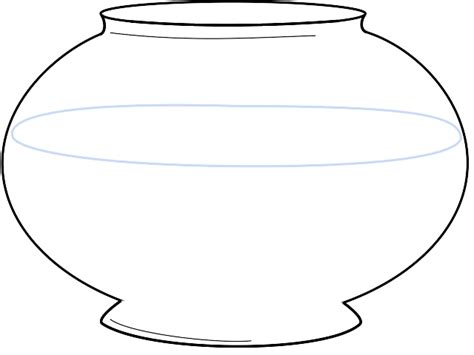 fish bowl cutout template fish bowl coloring pages getcoloringpages