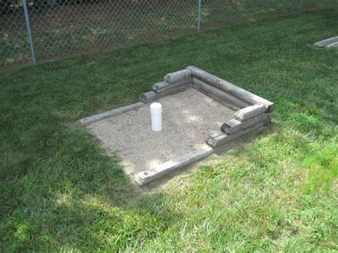how to build a horseshoe pit in your backyard protective covers for horseshoe pit stakes clever ideas