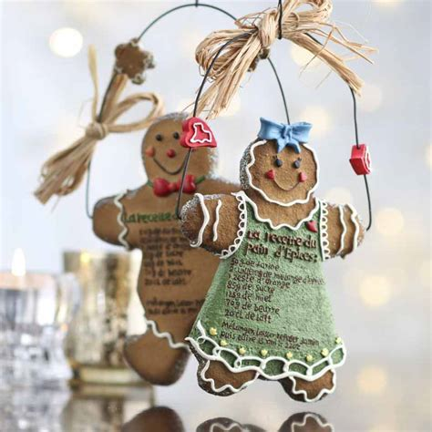 french gingerbread cookie recipe ornament christmas