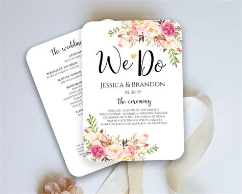 Wedding Programs Fans Templates by Awesome Fan Wedding Program Template Photos Styles