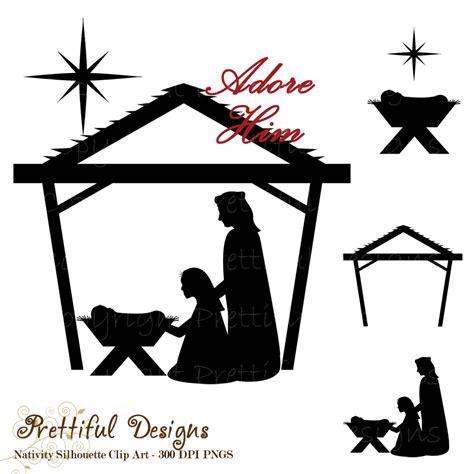 nativity silhouette clip art new calendar template site