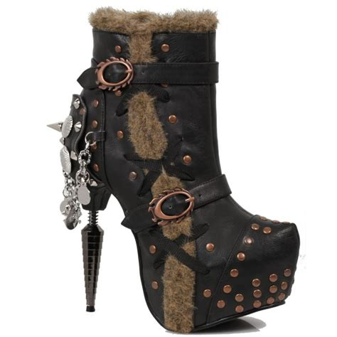Gothic Style Home griffin steampunk style gothic ankle boot by hades alternative