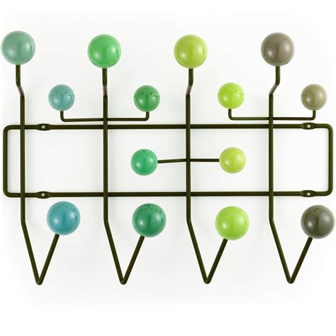 Eames Coat Rack Replica by Vitra Eames Hang It All Coat Rack Green