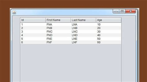 php tutorial using netbeans java populate jtable from arraylist in java c java