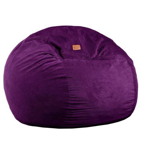 Bean Bag Futon by Size Eggplant Chenille Bean Bag Converts To A Bed
