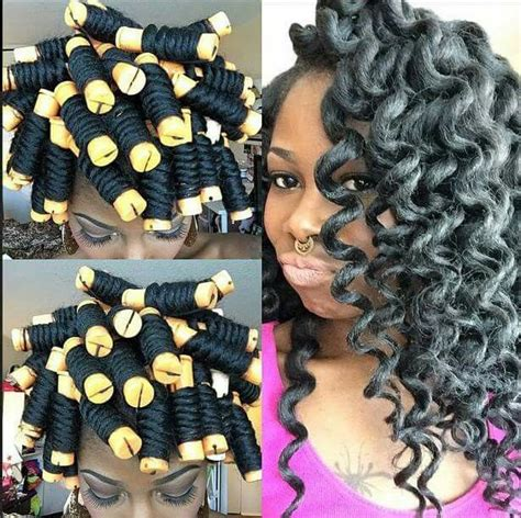 How To Perm Rod Crochet Hair | perm rods and crochet braids