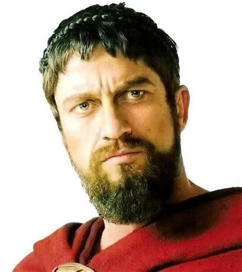 spartan hairstyle men gerard butler hairstyles short messy wavy caesar