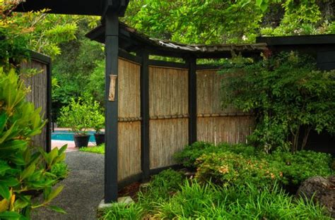 bamboo fence adds an element of inimitable style