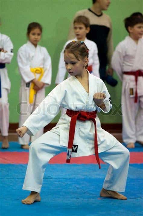 video tutorial karate karate girls training stock photo colourbox