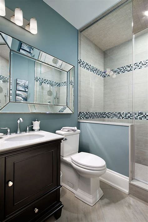 35 Blue Grey Bathroom Tiles Ideas And Pictures Gray Blue Bathroom Ideas
