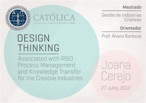 design thinking knowledge management design thinking associated with r d process management