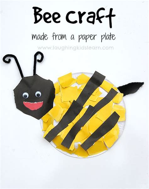 Paper Plate Bumble Bee Craft - paper plate bee craft activity bee crafts craft