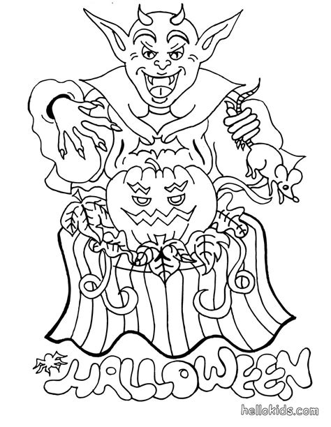 coloring pictures of halloween monsters devil monster coloring pages hellokids com