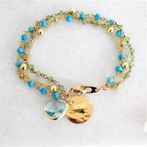 gemstone friendship bracelets by misskukie   notonthehighstreet.com