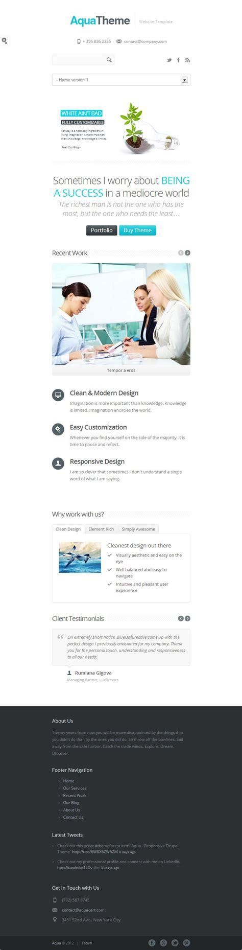 drupal theme alter aqua premium responsive drupal theme for corporate web