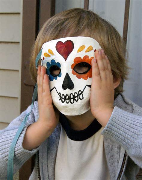 How To Make A Paper Mache Skull Mask - papier mache sugar skull masks starving artist designs