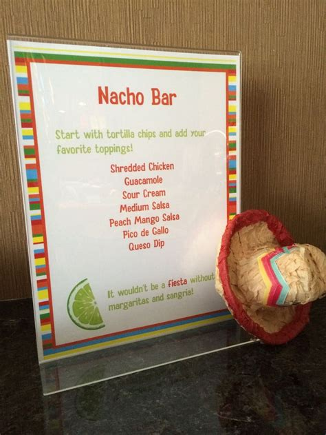 Nacho Bar Toppings List by Mexican Themed For Cinco De Mayo Nacho Bar
