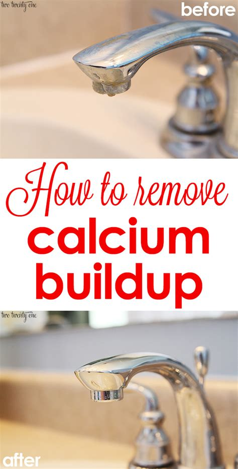 how to clean calcium faucets