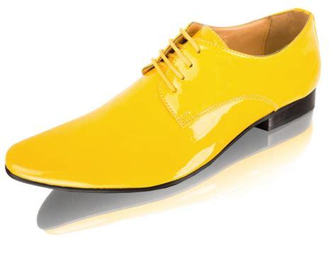 buy yellow contemporary patent tuxedo shoes dobell