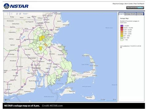nstar cape cod power outages cape cod bay