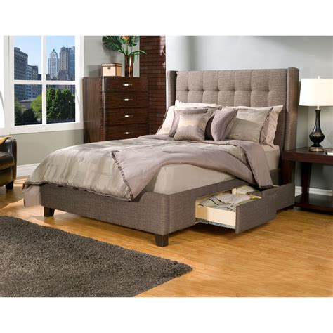 Padded Headboard With Storage by Bedroom White Upholstered Platform Bed With Tufted