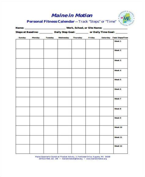 personal calendar 41 free calendar templates