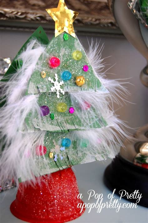 christmas craft ideas for kids sparkly tree from recycled