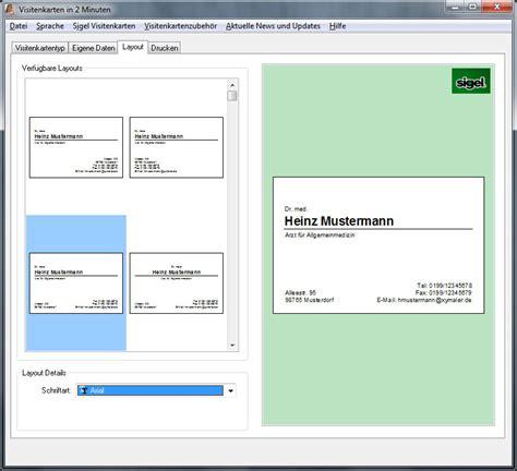 Visitenkarten Programm Kostenlos by Visitenkarten In 2 Minuten Visitenkarten Selbst Erstellen