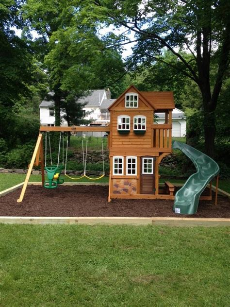 wooden backyard playsets 169 best images about playground sets sandbox ideas kids