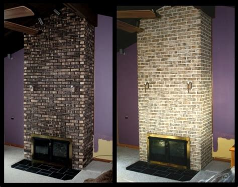 Staining Fireplace Brick by Impressive Staining Exterior Brick 6 Brick Staining Before And After Newsonair Org