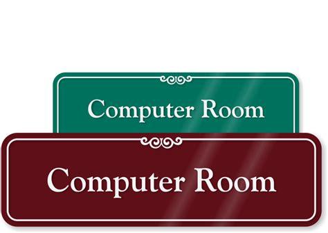 Sign Label Server Room computer room signs server room signs