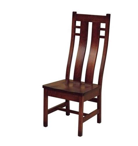 amish made solid wood mission dining chair