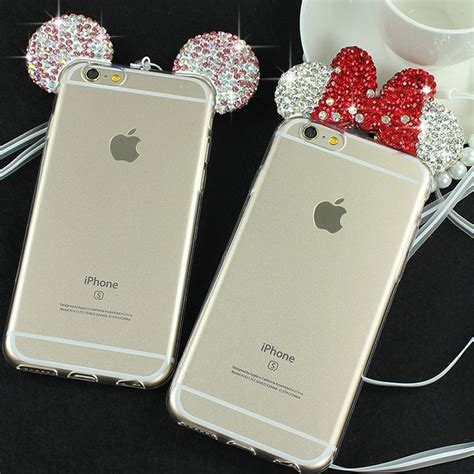 Iphone 6 6s The Beast 3d Rhinestones Softcase Tpu 1061 3d minnie mickey mouse for iphone 6 6s 6 plus 6s plus rhinestone ears soft