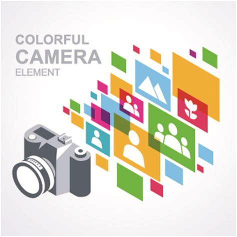 camera vector wallpaper camera with colorful background vector free vector in