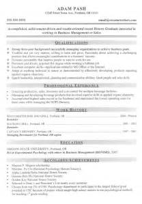 entry level resume exle sle resumes