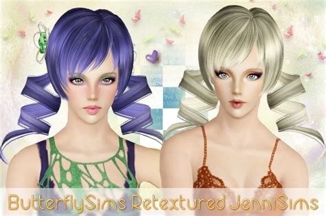 anime hairstyles for the sims 3 anime flower ponytail hairstyle butterflysims hair 065