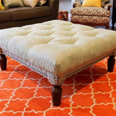 How To Make A Tufted Ottoman From A Coffee Table Tip Junkie