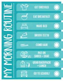 daily routine checklist template handy printable morning routine checklist