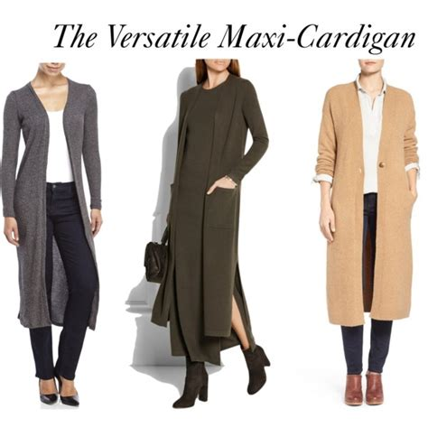wear a knit how to wear maxi cardigans elements of image