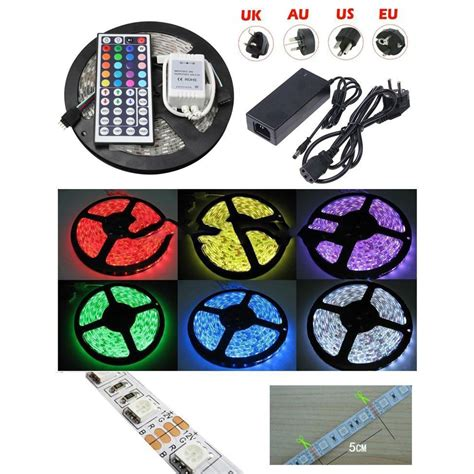 Led Rgb 5 M Waterproof led light waterproof 5050 rgb 5m with 44