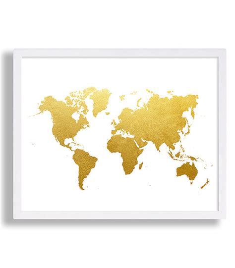 Weltkarte Drucken Faux Gold Kunstdruck Modern Decor Globe World Map Colouring Page