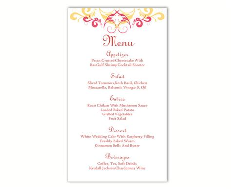 wedding menu template microsoft word wedding menu template diy menu card template editable text