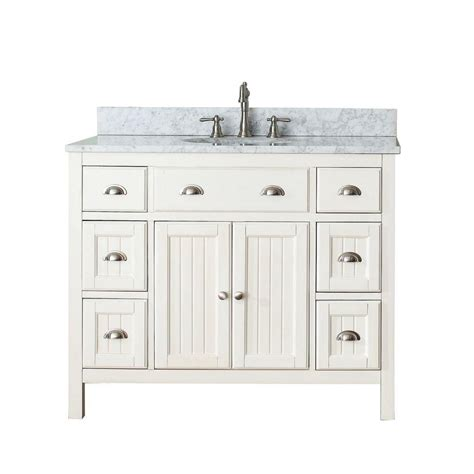 avanity hamilton 42 inch w vanity in white with