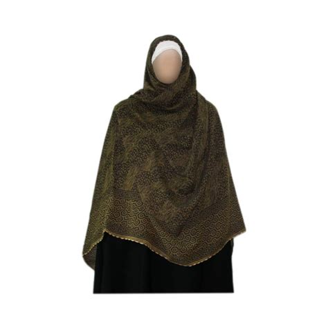 pattern hijab scarves shayla hijab scarf with pattern in olive green oriental