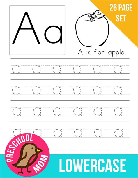 Lowercase Letter Tracing Worksheets Pdf by Preschool Printables Alphabet