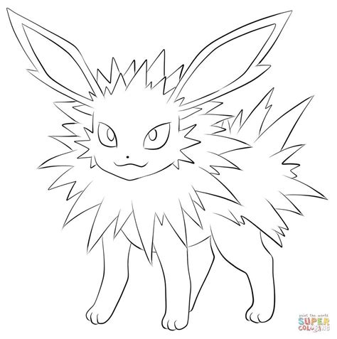 Jangmo O Coloring Page by Http Colorings Co Coloring Pages Jolteon